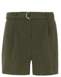 Dorothy Perkins Khaki D Ring Shorts