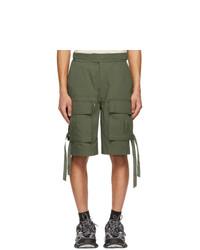 Juun.J Khaki Gurkha Pocket Shorts