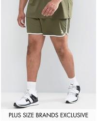 Puma Plus Retro Mesh Shorts In Green To Asos