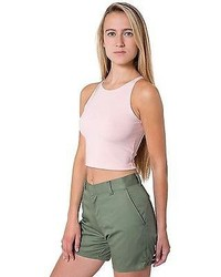 American Apparel Rsa0407w Unisex Cotton Twill Welt Pocket Short
