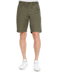 John Varvatos Star Usa Triple Needle Cotton Shorts Olive