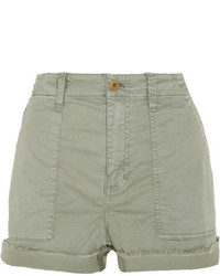 Madewell Stretch Cotton Twill Shorts Green