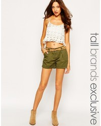 Vero Moda Tall Cargo Short With Belt