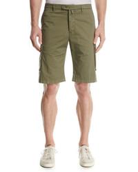 Kiton Twill Cargo Shorts Olive