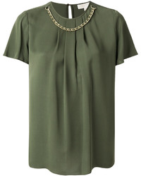 MICHAEL Michael Kors Michl Michl Kors Chain Detail Short Sleeved Blouse