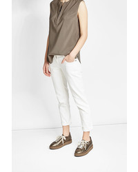 Brunello Cucinelli Sleeveless Silk Blouse With Embellisht