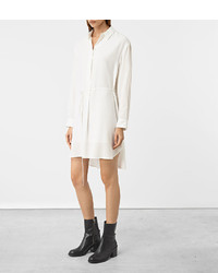 41c3c72b5d9 ... AllSaints Alex Silk Shirt Dress