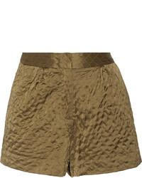 Jody quilted satin shorts medium 97191