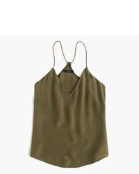 Olive Silk Tank