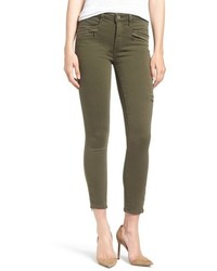 Paige Daryn High Rise Ankle Zip Skinny Jeans