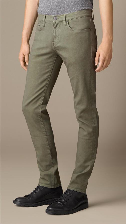 design di qualità 12a88 6eaea $225, Burberry Slim Fit Hand Sprayed Jeans