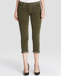 Mother The Dropout Slouchy Skinny Jeans In Olive