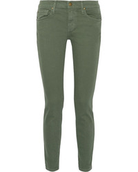 The Great The Skinny Skinny Mid Rise Jeans Army Green