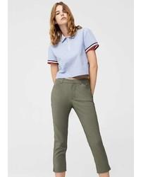 Mango Crop Slim Fit Trousers