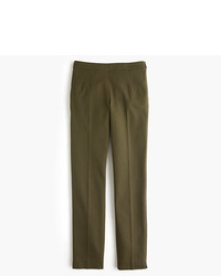 J.Crew Tall Martie Slim Crop Pant In Stretch Cotton With Side Zip