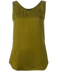 Olive sleeveless top original 3998765
