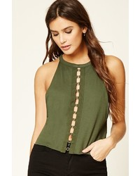 Forever 21 Circle Cutout Front Top