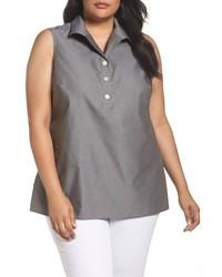Plus size dani button back sleeveless top medium 3992780
