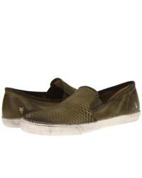 Olive slip on sneakers original 9745106