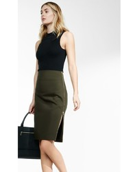 Side zipper midi pencil skirt medium 647588