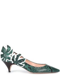 Rochas Snakeskin Effect Pumps