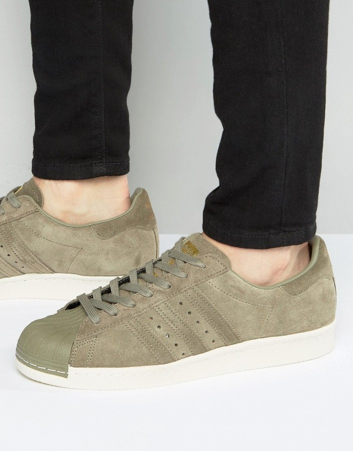 adidas superstar 80s olive green