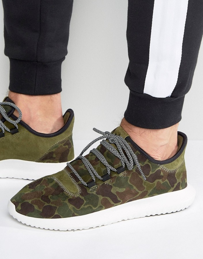 classic fit 0f14e f3d79 $72, adidas Originals Tubular Shadow Sneakers In Green Bb8818