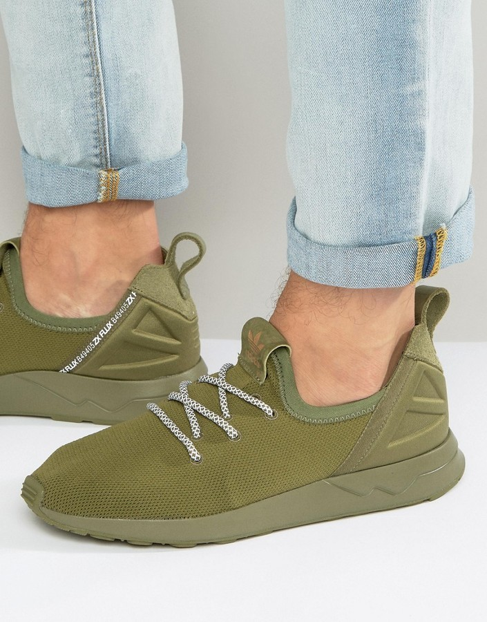 quality design f08c7 0f84d $110, adidas Originals Zx Flux Adv X Sneakers In Green B49405