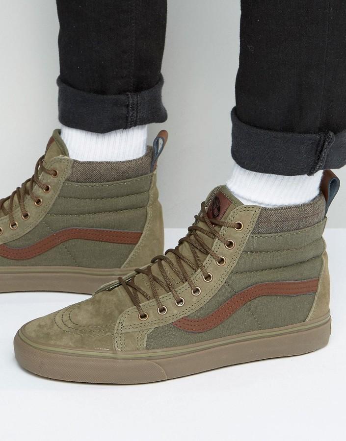 $57, Vans Sk8 Hi Mte Dx Sneakers In Green Va3498lr4