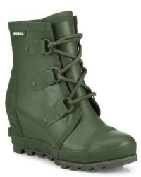 Sorel Joan Short Wedge Rain Boots