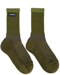 Jacquemus Green La Montagne Les Chaussettes Lenvers Socks