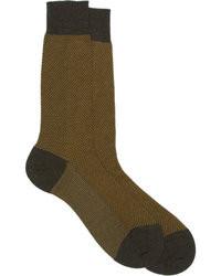 Barneys New York Mlange Rib Knit Midcalf Socks