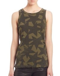 Current/Elliott Cotton Star Print Muscle Tee