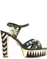Fausto Puglisi Studded Platform Sandals