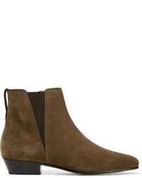 Etoile Isabel Marant Isabel Marant Toile Patsha Suede Ankle Boots Army Green