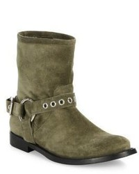 Burberry Queenstead Suede Moto Booties