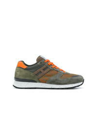 Olive Suede Athletic Shoes