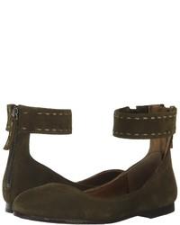 Frye Carson Ankle Ballet Flat Shoes