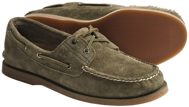 Timberland Classic 2 Eye Boat Shoes Suede