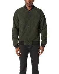 Scotch & Soda Suede Bomber Jacket