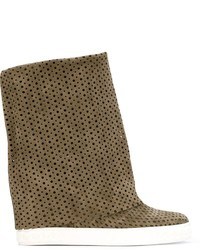Casadei Perforated Foldover Boots