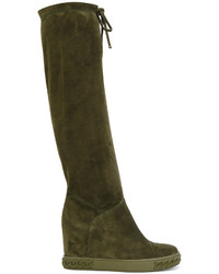 Casadei Concealed Platform Drawstring Boots
