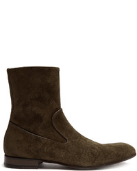 Zip up suede ankle boots medium 1198452