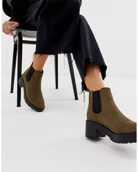 New Look Ed Chelsea Boot In Khaki