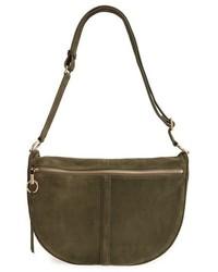 Olive Suede Crossbody Bag