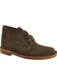 Clarks Bushacre 2 Olive Suede Boots