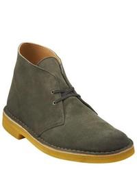 Clarks Desert Boot Green Suedeyellow Crepe Boots