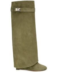 Givenchy Shark Lock Knee High Boots