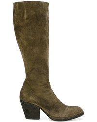 Textured knee length boots medium 5205785