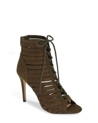 BCBG Julie Lace Up Open Toe Bootie